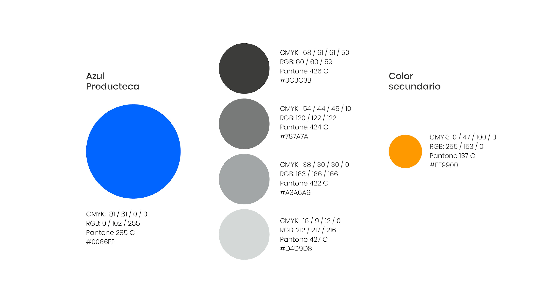 Paleta de colores de Producteca